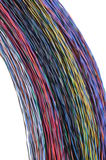 Color cable bundles Stock Photography