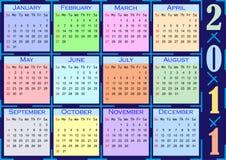 Color calendar 2011 Stock Photos