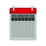 Color calendar with two rings Stock Photo