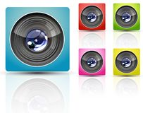 Color camera lens Royalty Free Stock Images