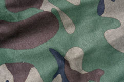 Color camouflage uniform surface. Stock Photo