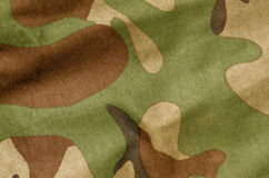 Color camouflage uniform surface. Royalty Free Stock Photo