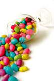 Color Candie Beans In Glass Stock Image