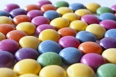 Color candies. Lots of brightly colored candy royalty free stock photography