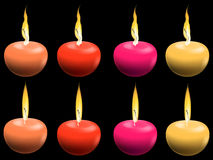 Color candles Stock Photography