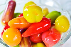Color candy. Confectionery coating dry beans Royalty Free Stock Images