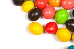 Color candy in glaze. On white background Royalty Free Stock Image