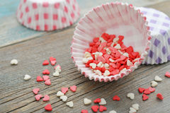 Color candy hearts Royalty Free Stock Images