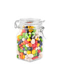 Color candy in jar Stock Image