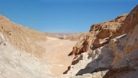 Color canyon in Egypt. Sinai peninsula, Nuweiba Royalty Free Stock Images