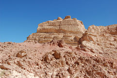 Color canyon in Egypt. Sinai peninsula, Nuweiba Stock Image