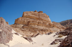 Color canyon in Egypt. Sinai peninsula, Nuveiba Stock Photography