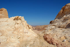 Color canyon in Egypt. Sinai peninsula, Nuveiba Royalty Free Stock Photos