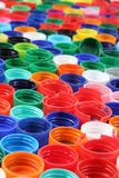 Color caps as plastic background Royalty Free Stock Images