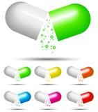 Color capsule Stock Photo
