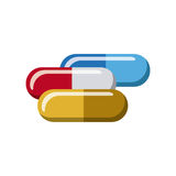 color capsules treatment icon Royalty Free Stock Photo