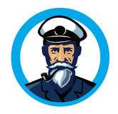 Color captain icon. Vector color captain icon on white background Stock Photo