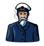 Color captain icon Stock Images