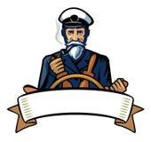 Color captain icon Stock Image
