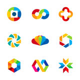 Color capture imagination limitless education share community logo icon set Royalty Free Stock Photography