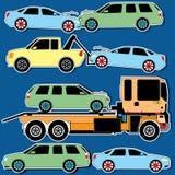 Color car collision acciden Royalty Free Stock Photos