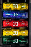 Color car fuse Stock Photo