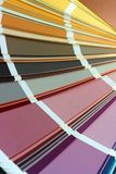 Color card. The opened color card with various colors Royalty Free Stock Photo