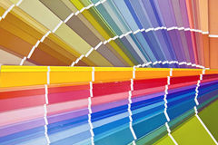 Color card. Cards with different shades of color mixing color process intended Royalty Free Stock Photo