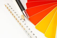 The color card. royalty free stock photo