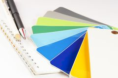 The color card. stock photography