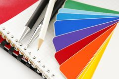 The color card. Royalty Free Stock Image