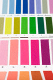 Color card. Close up of color card, monochrome rows Stock Photos
