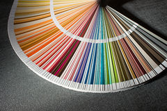 Color card, Color guide closeup, Color Chart, Color Swatch Royalty Free Stock Image