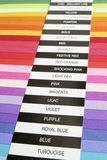 Color card Royalty Free Stock Images