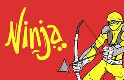 Color card ninja Stock Photos