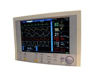 Color cardiovascular monitor, doppler, diagnostic. Digital color cardiovascular monitor display the cardio diagnostic results (including doppler imaging Stock Photos