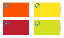 Color  cards Royalty Free Stock Photos