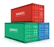 Color cargo containers Stock Photography