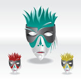 Color carnival mask. Colorful, artistic and three different carnival mask Royalty Free Stock Images