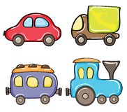 Color cars royalty free stock images