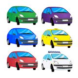 Color cars vector illustration