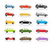 Color cars collection Stock Photos