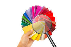 Color cart in hand Royalty Free Stock Photography