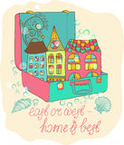 Color cartoon home Royalty Free Stock Image