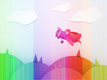 Color cartoon plane Royalty Free Stock Photos