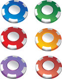 Color casino chips stock photo
