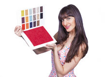 Color catalogue girl Stock Photography
