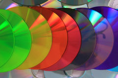Color CD and DVD background Royalty Free Stock Images