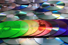 Color CD and DVD background Stock Photo