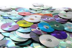 Color CD and DVD background Stock Photography
